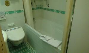 プリンセス クルーズ ジュニアスイート バスルーム