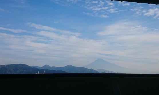 クルーズから見た富士山
