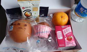 CZ356 武漢-広州 エコノミー 機内食