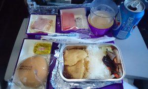 中国南方航空 モスクワ行き 機内食