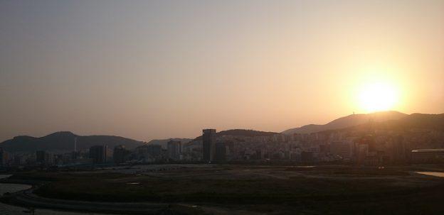釜山港からの景色