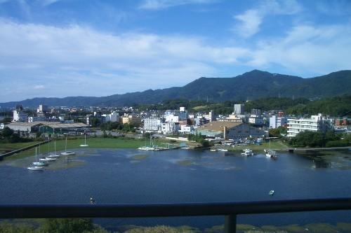 京近江 露天風呂からの景色