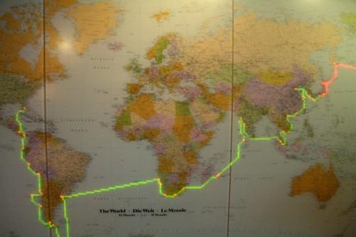モニター世界地図