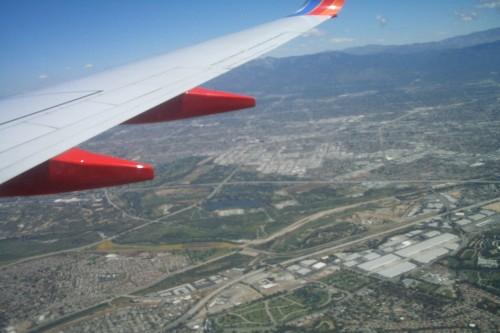ラスベガス 機内からの眺め