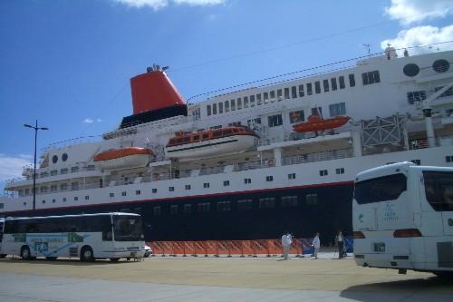 にっぽん丸 鹿児島港