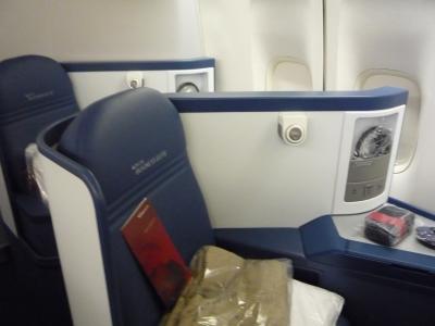 デルタ航空 ビジネスクラス席