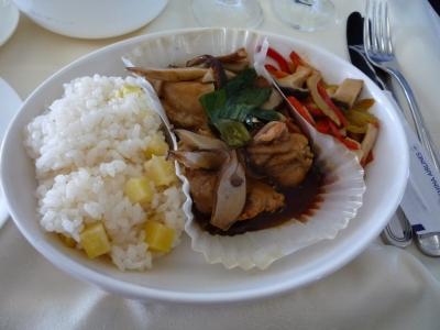 チャイナエアライン 機内食 メイン