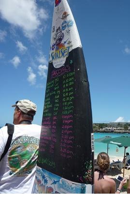 マホ・ビーチ フライト情報のサーフボード