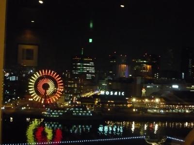 客室からの夜景 神戸モザイク
