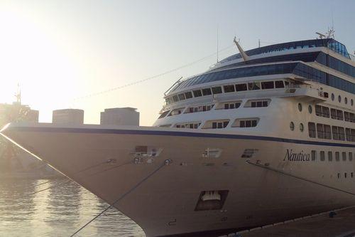 オーシャニア・ノーティカ 船首からの外観
