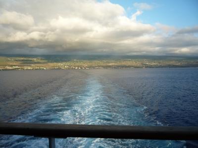 クルーズ 船尾客室からの景色